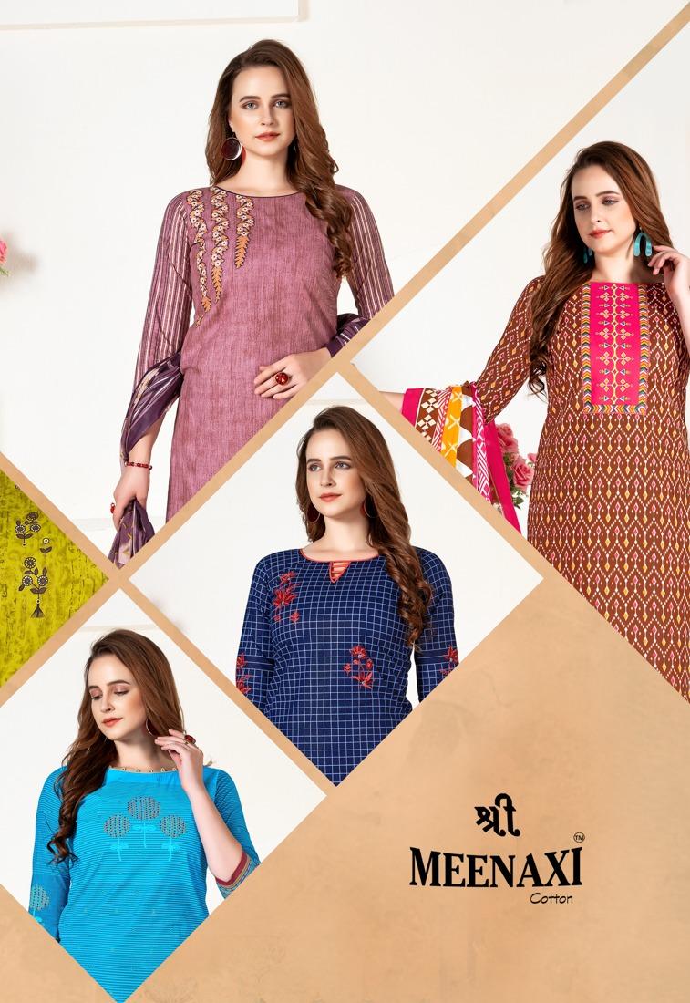 Meenaxi Priyanka Vol-10 Series 1001-1012 Pure Cotton Suit
