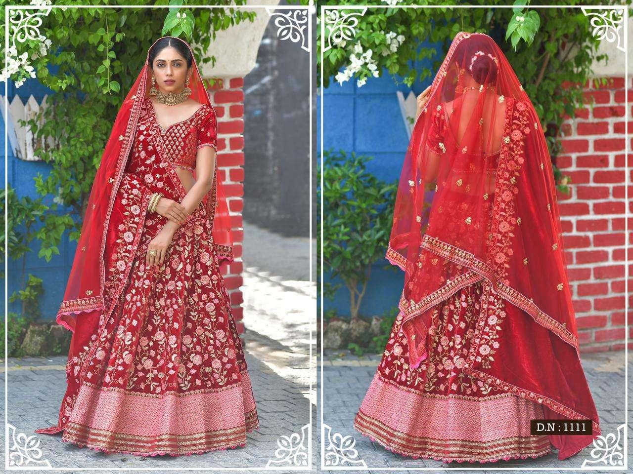 Peafowl Vol 75 Velvet Designer Fancy Wedding Lehenga Collection