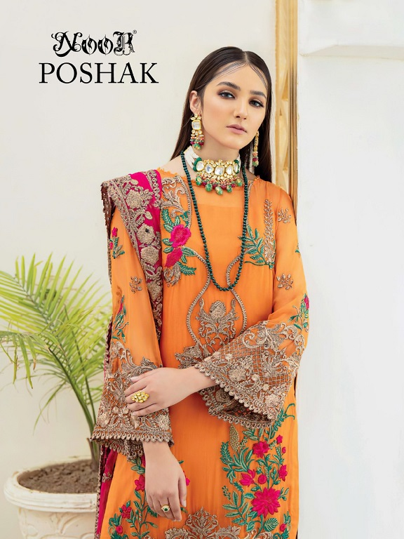 Noor Poshak Georgette With Heavy Embroidery Suit