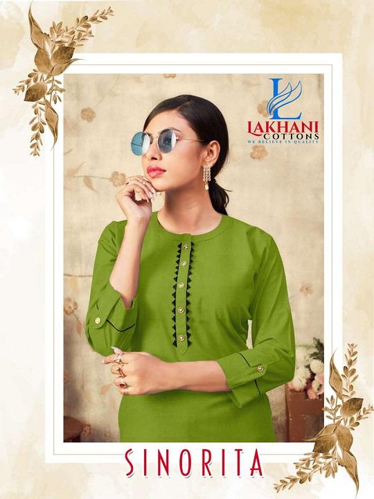 Lakhani Cottton Sinorita Series 101-110 Stitched Pure Cotton Kurti