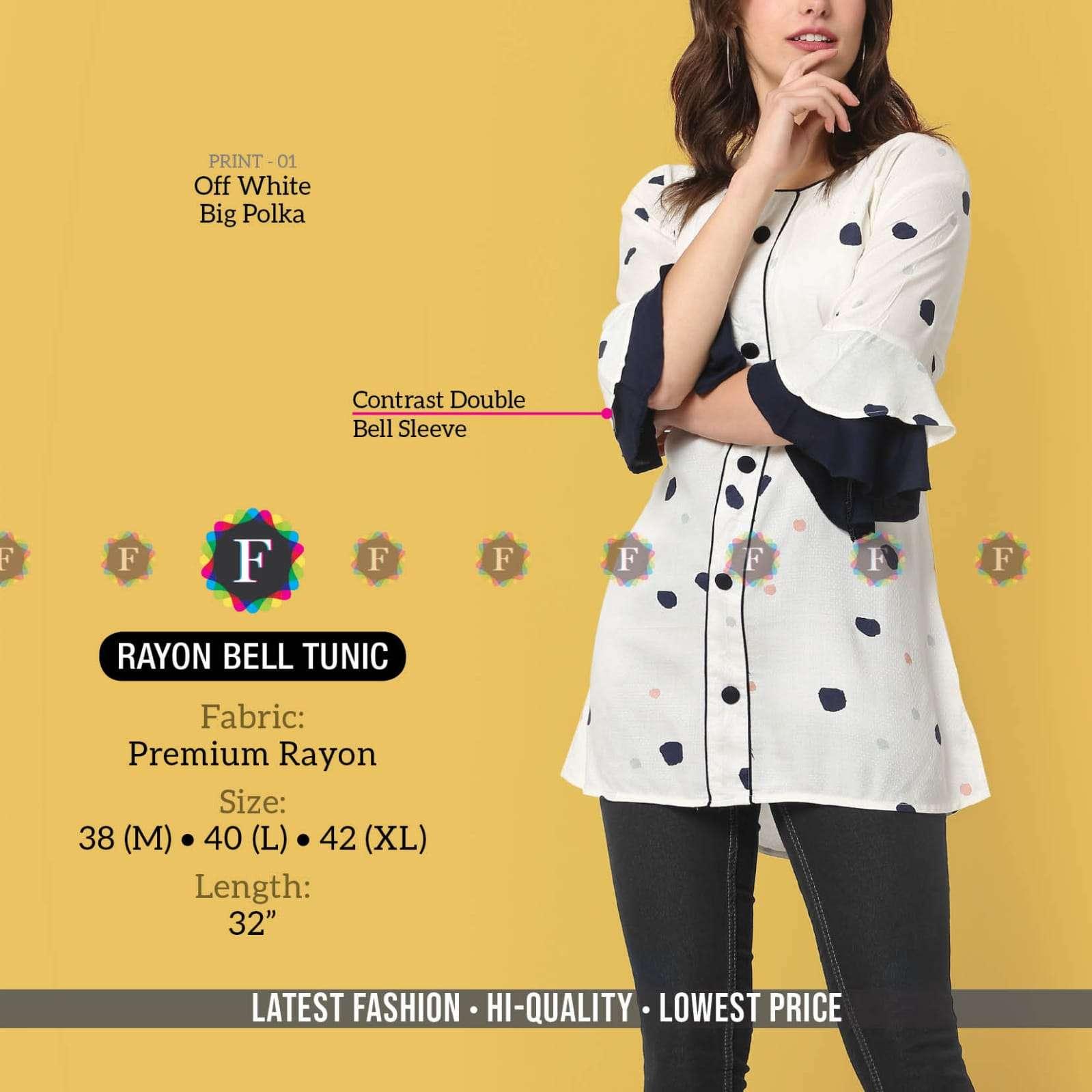 K4u Present Rayon Bell Tunic Western Wear Collection
