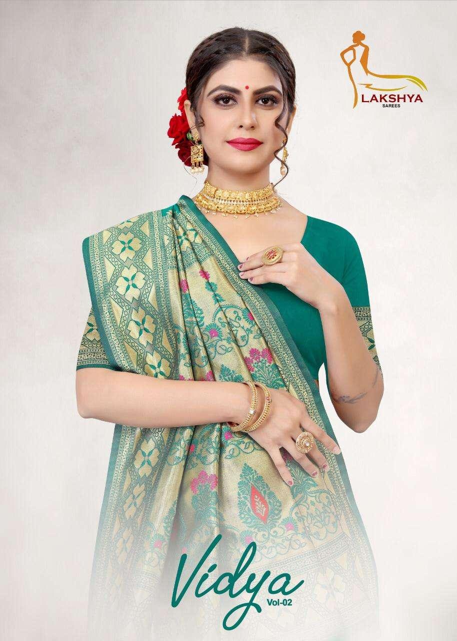 Vidya Vol 2 By Lakshya Saree Jacquard Silk Daily Wear Fancy Saree