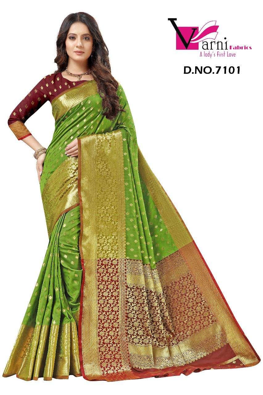 Varni Fabrics Pankhudi Series 7101-7110 Silk Designer Saree