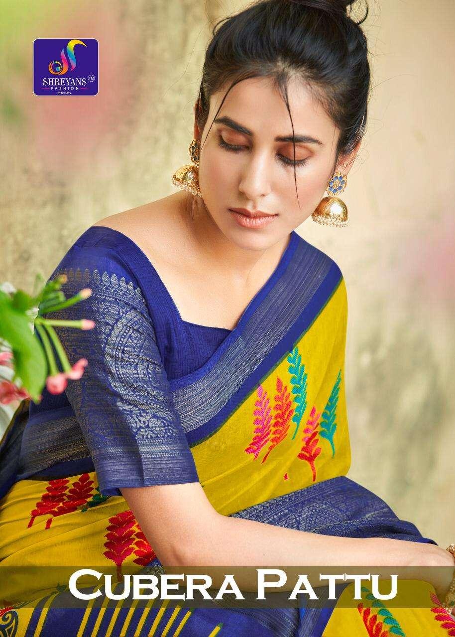 Shreyans Fashion Cubera Pattu Series 01-12 Cotton Silk Saree