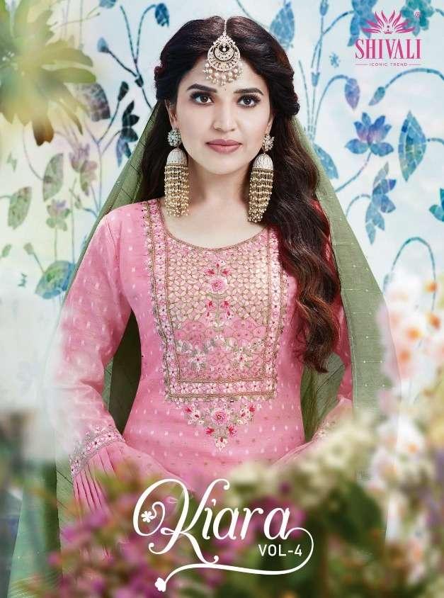 Shivali Kiara Vol-4 Series 1001-1005 Exclusive Work Readymade Suits