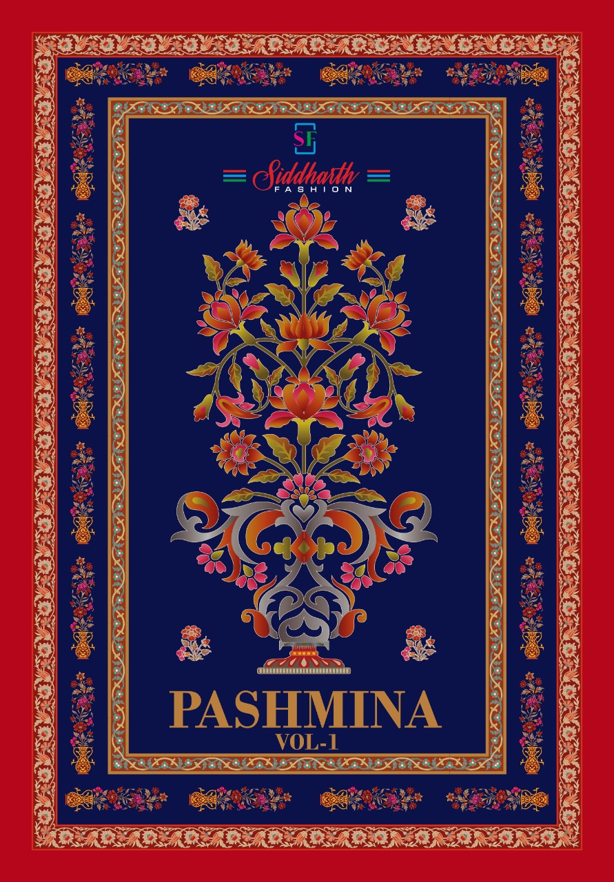 Siddharth Pashmina Vol 1 Pure Cotton Suit