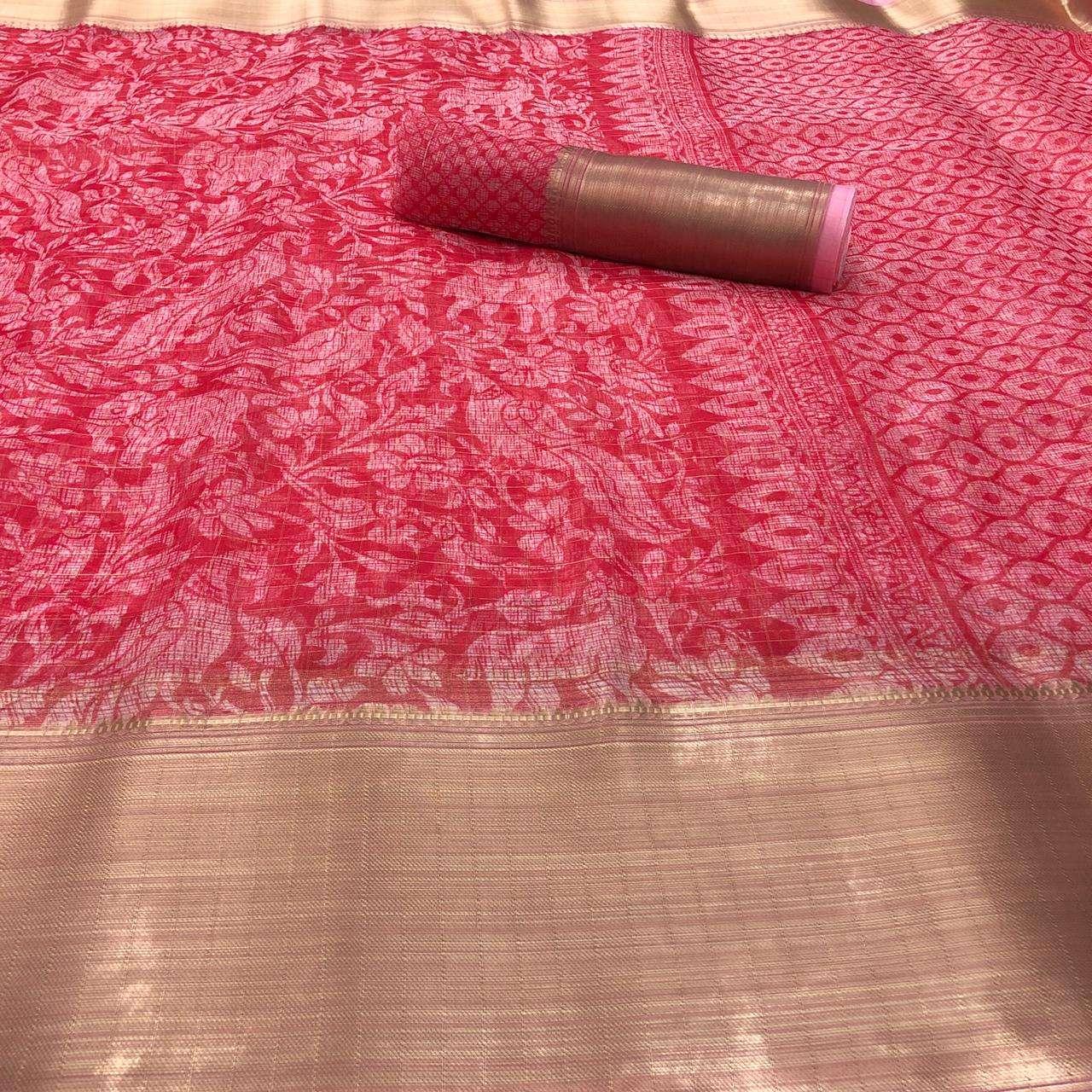 Shreyans Tana Bana Pattu Organza Kadi Silk Casual Wear Saree