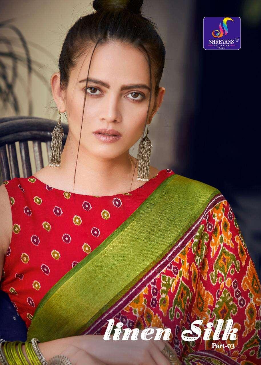 Linen Silk Vol 3 By Shreyans Printed Designer Saree