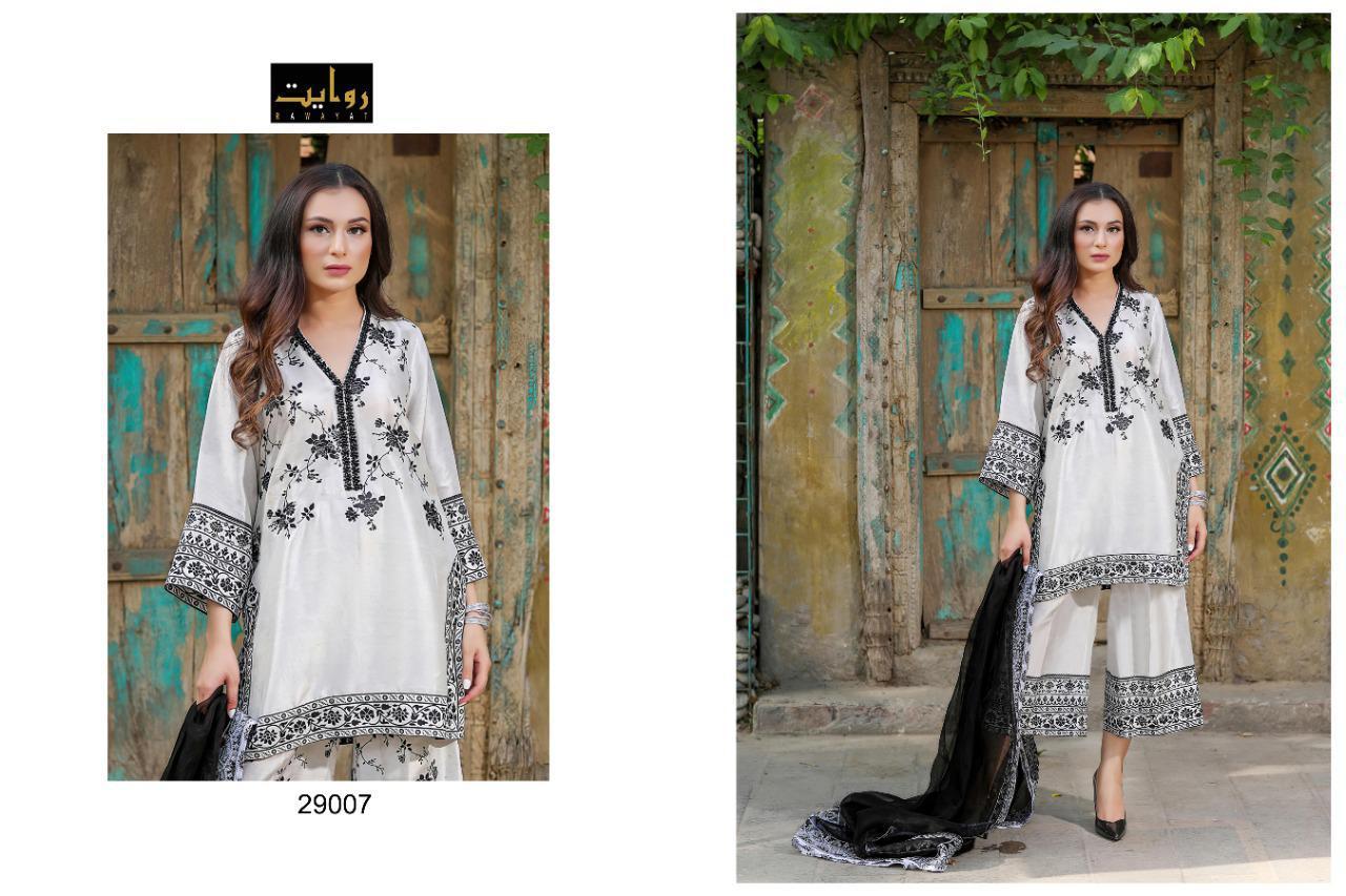 Rawayat Signature Collection 29007 Designer Pure Cotton Suit
