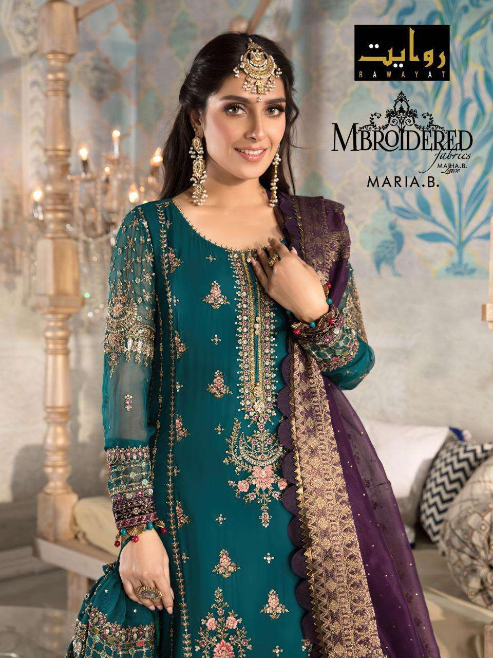 Rawayat Mbroidered Collection 2021 Georgette Pakistani Suits