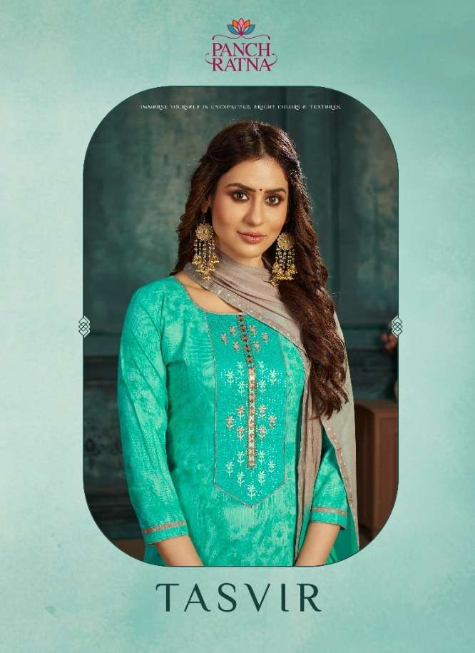 Tasvir By Panch Ratna Cotton Casual Wear Dress Materials