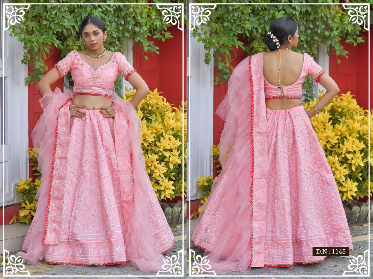 Peafowl Vol-77 Designer Adda Silk And Chennai Silk Lehenga