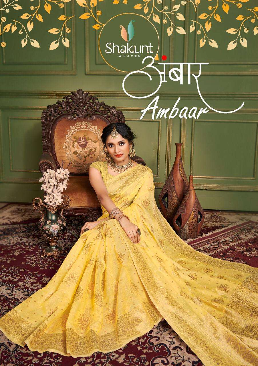Shakunt Ambaar Cotton Weaving Casual Wear Saree Wholesaler