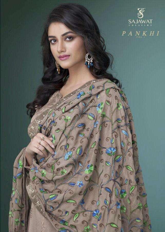 Sajawat Pankhi Georgette Work Readymade Kurti Pant With Dupatta