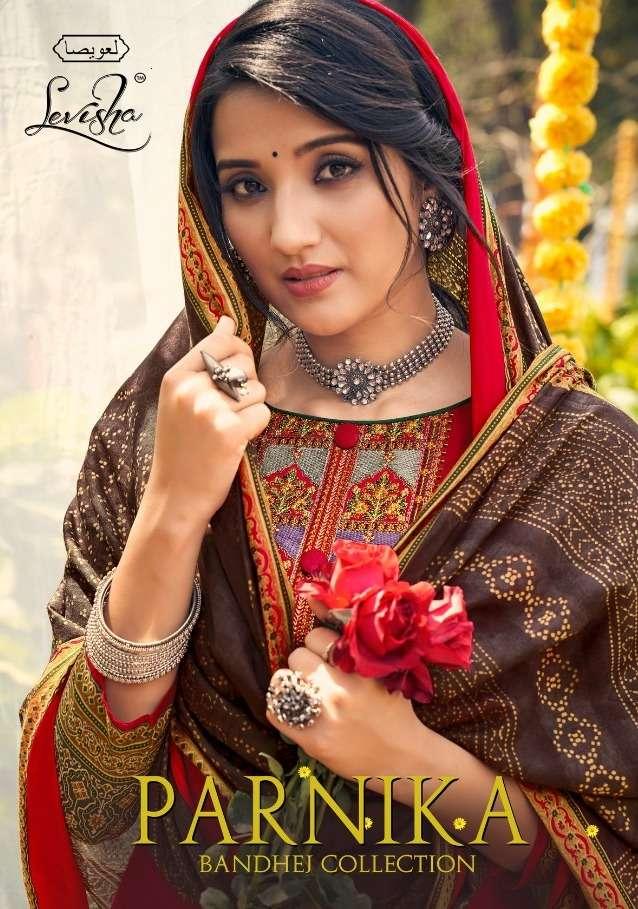 Levisha Parnika Lawn Cotton Bandhej Salwar Kameez