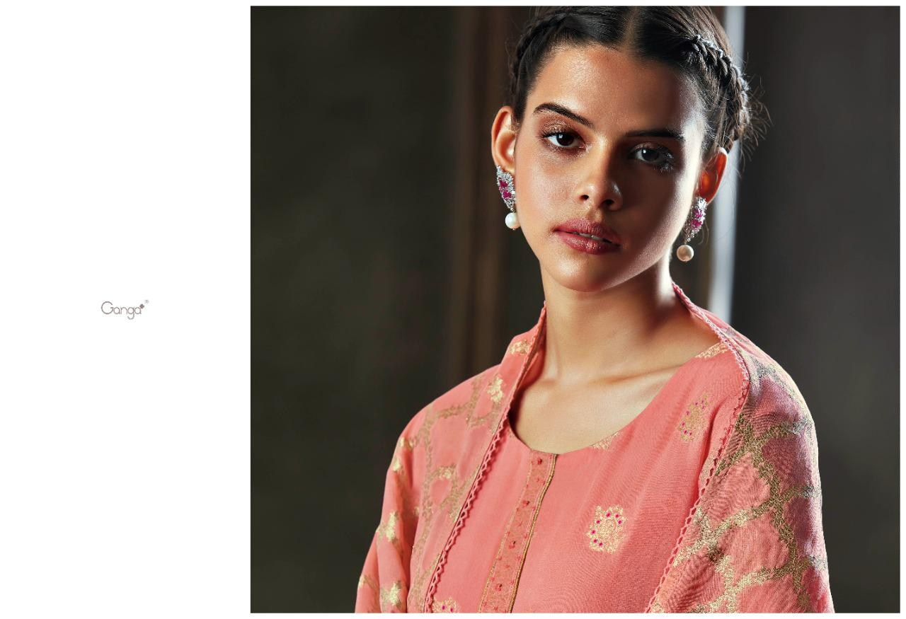 Ganga Nest Series 0801-0806 Premium Georgette Jacquard Suit