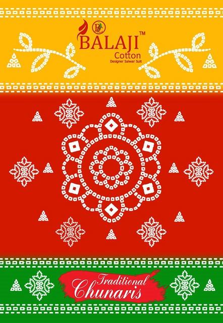 Balaji Traditional Chunaris Series 1001-1012 Pure Cotton Suit