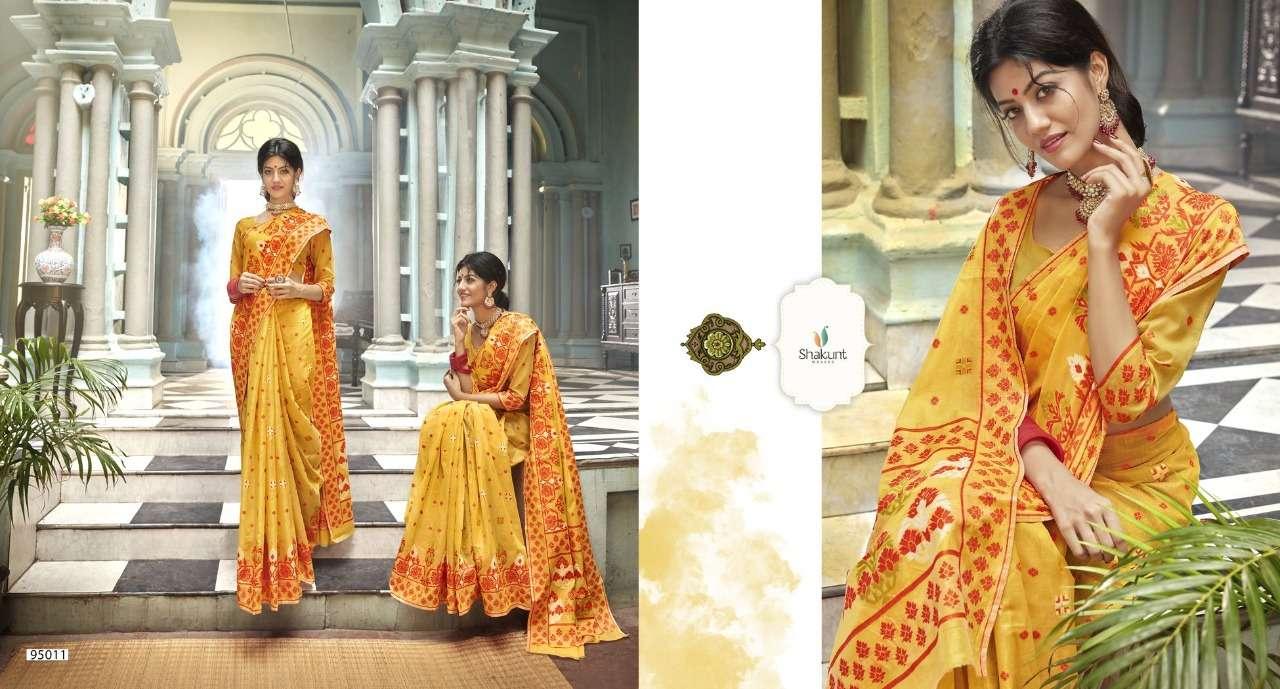 Shakunt Kasheen Series 95010-95017 Cotton Weaving Saree