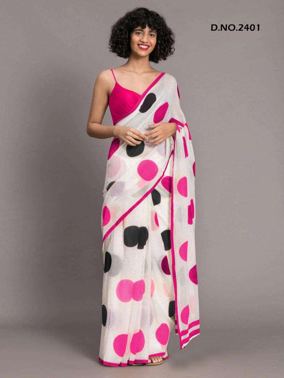 Amezia By Varni Fab Soft Chanderi Printed Fancy Saree