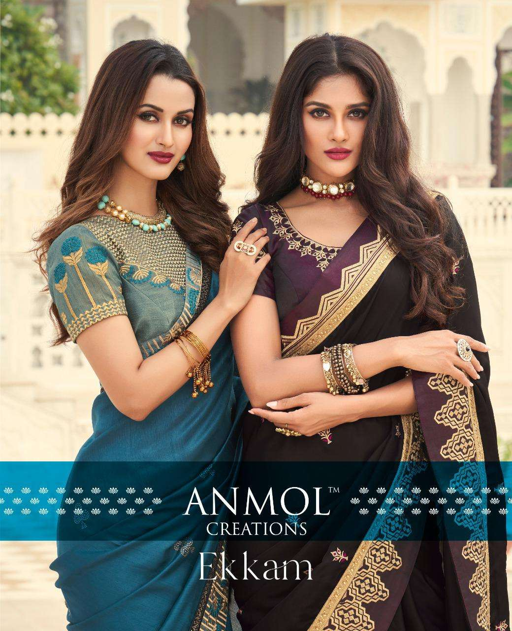 Anmol Ekkam 3601-3615 Series Silky Designer Fancy Sarees