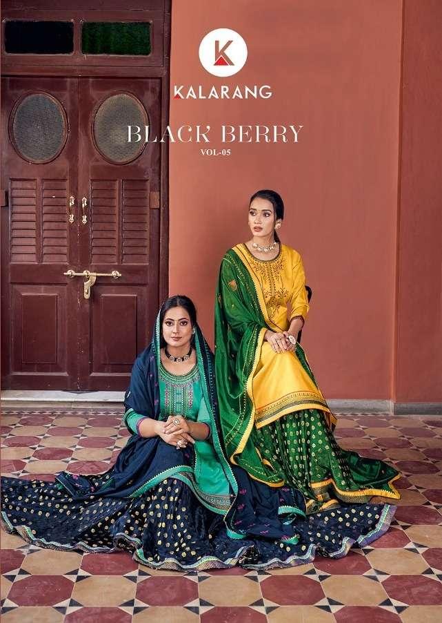 Kalarang Black Berry Vol 5 Jam Silk Cotton Designer Fancy Suits