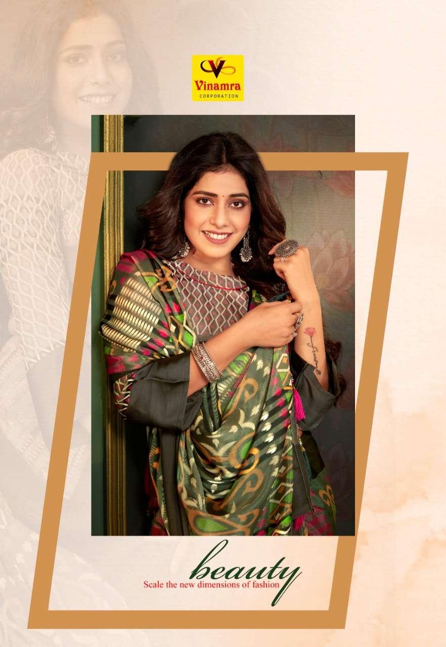 Vinamra 17 Patta Brasso Satin Printed Saris Wholesaler