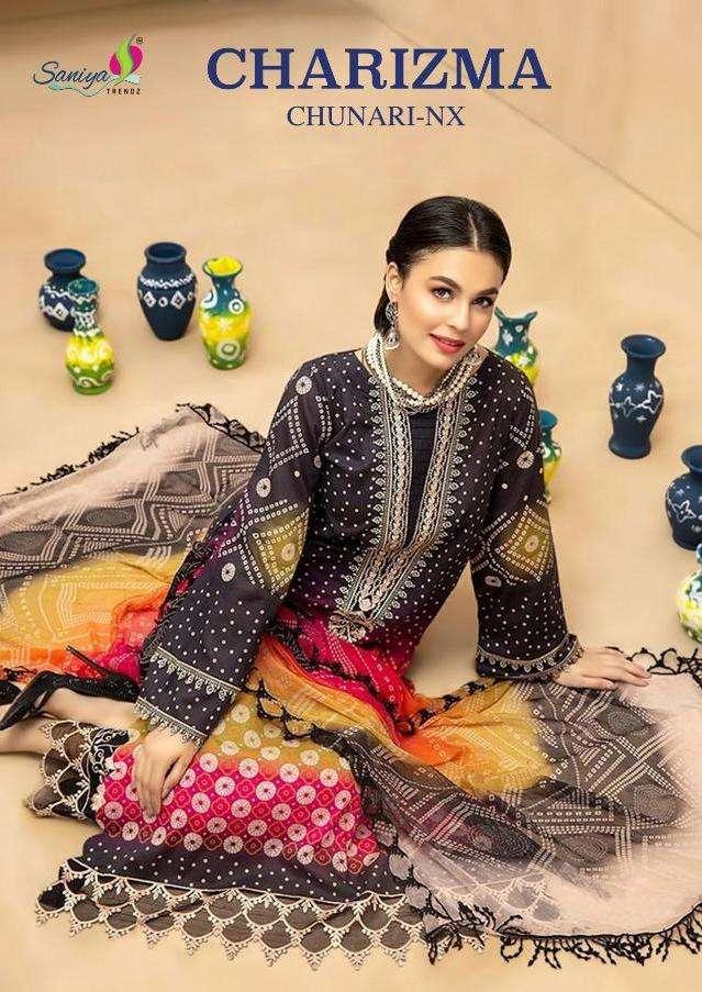 Saniya Charizma Chunari Nx Series 1001-1003 Cambric Pakistani Suits