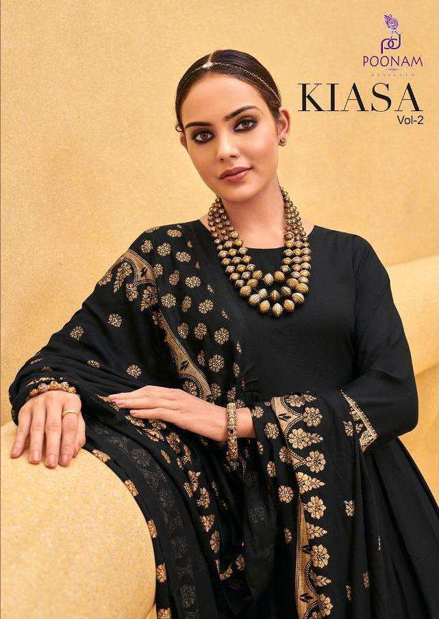 Kiasa Vol 2 By Poonam Rayon Gown With Dupatta Collection