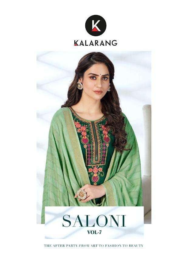 Kalarang Saloni Vol-7 Series 3111-3114 Jam Silk Cotton Suits