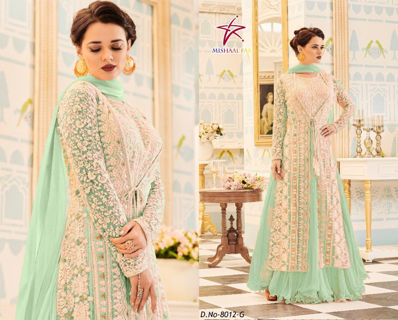 Mishaal Fab 8012 Designer Heavy Georgette Suit