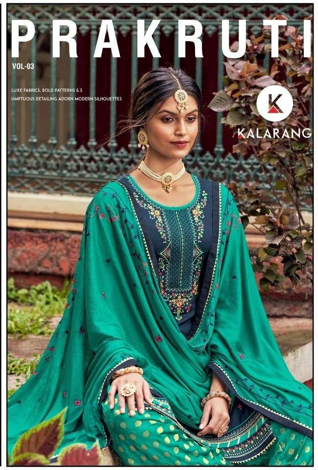 Kalarang Prakruti Vol 3 Jam Silk Cotton Designer Salwar Kameez