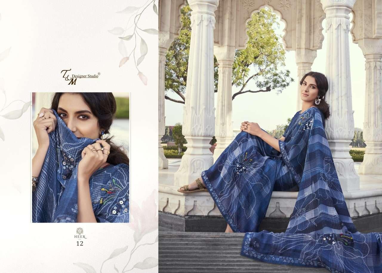 T M Designer Heer Series 09-22 Elegant Ethnic Wear Saree