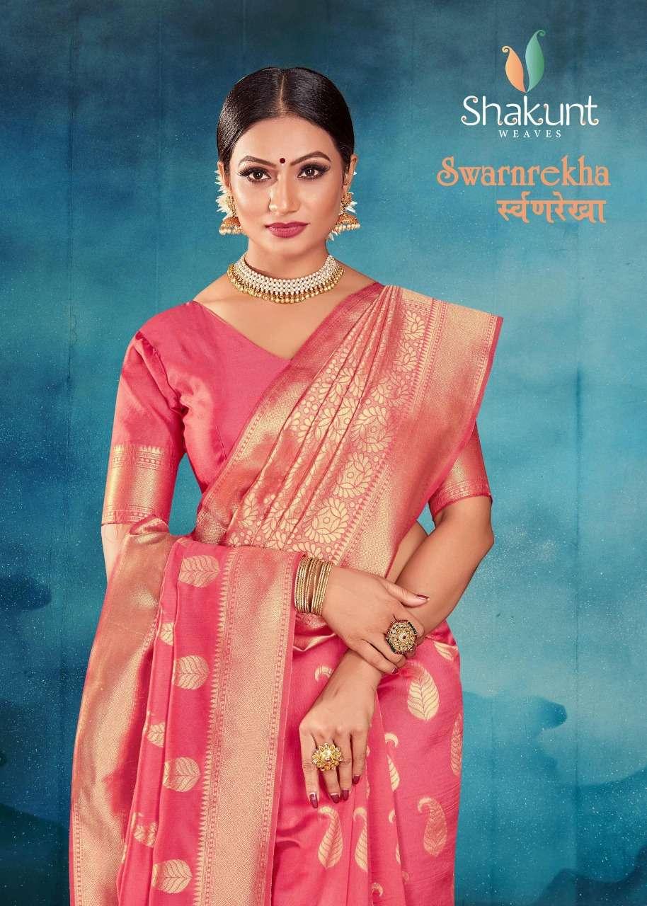Shakunt Swarnrekha Vol-1 Series 33057-33061 Art Silk Sarees