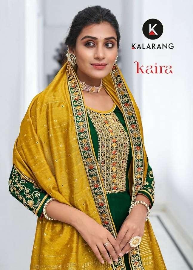 Kalarang Kaira Series 3141-3144 Silk Embroidery Salwar Kameez
