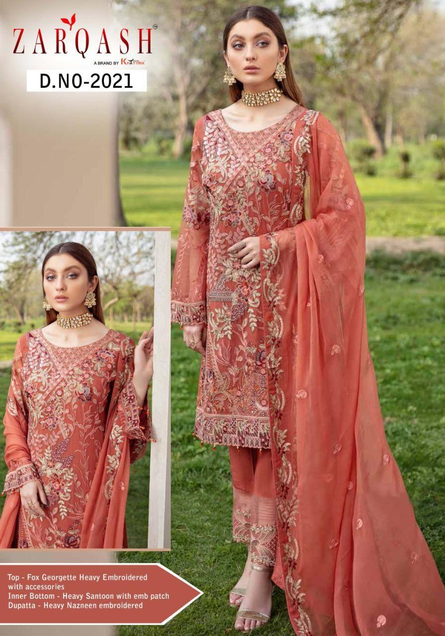 Zarqash Ramsha Designer Faux Georgette Suit