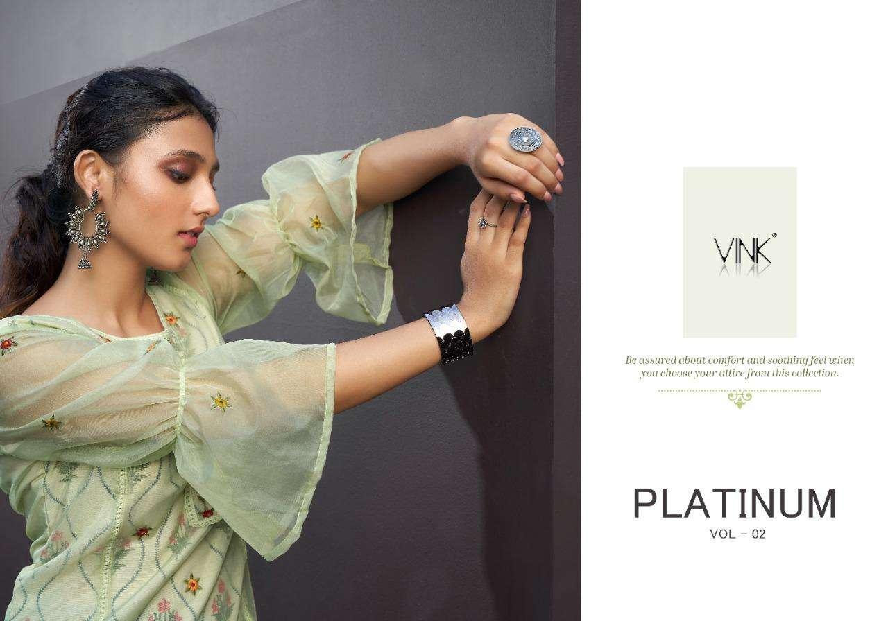 Vink Platinum Vol 2 Pure Organza Kurta With Pant Wholesaler