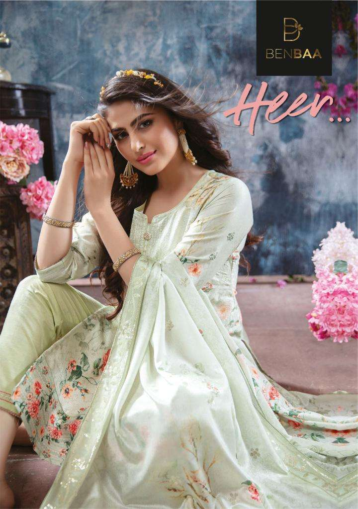 Benbaa Heer Readymade Jam Silk Casual Dresses Supplier