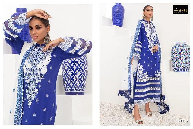 Rawayat Zainab Chottani Collection 2021 60003-60006 Pure Cotton Suit