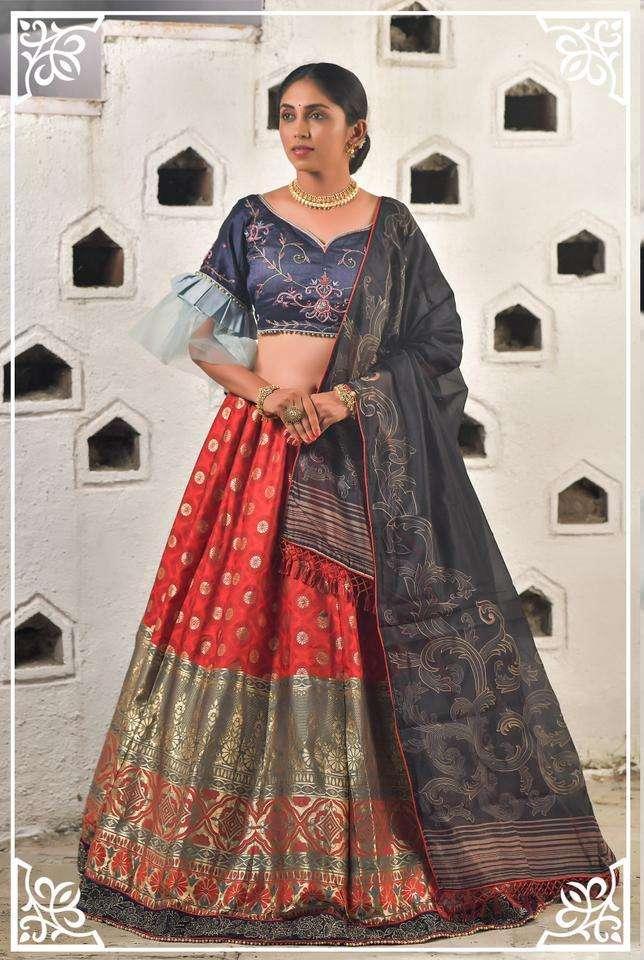 Peafowl Vol 79 Series 1151-1157 Banarasi Art Silk Lehenga