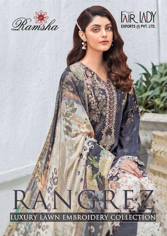 Fairlady Ramsha Rangrez Series 16001-16003 Lawn Cotton Suit