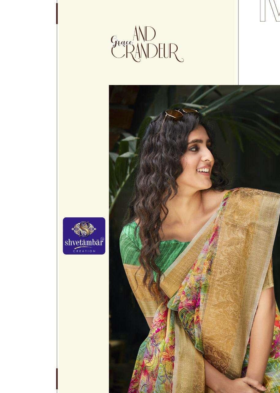 Shvetambar Creation Natooji Silk Organza Saris Wholesale Rate
