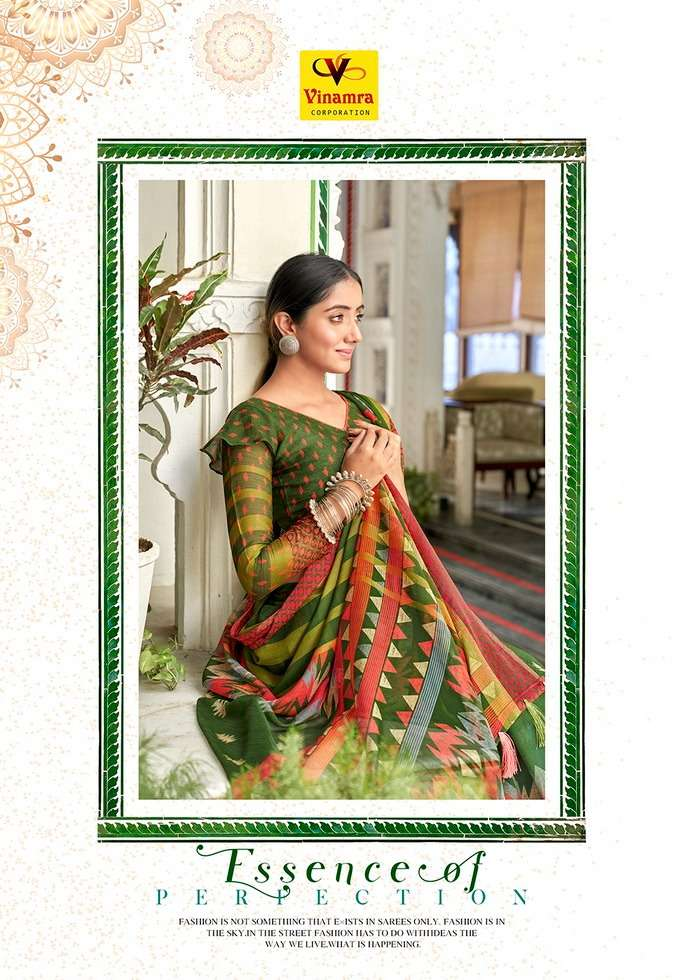 Vinamra Viscose Print Vol 10 Fancy Elegant Saris For Ethnic Wear