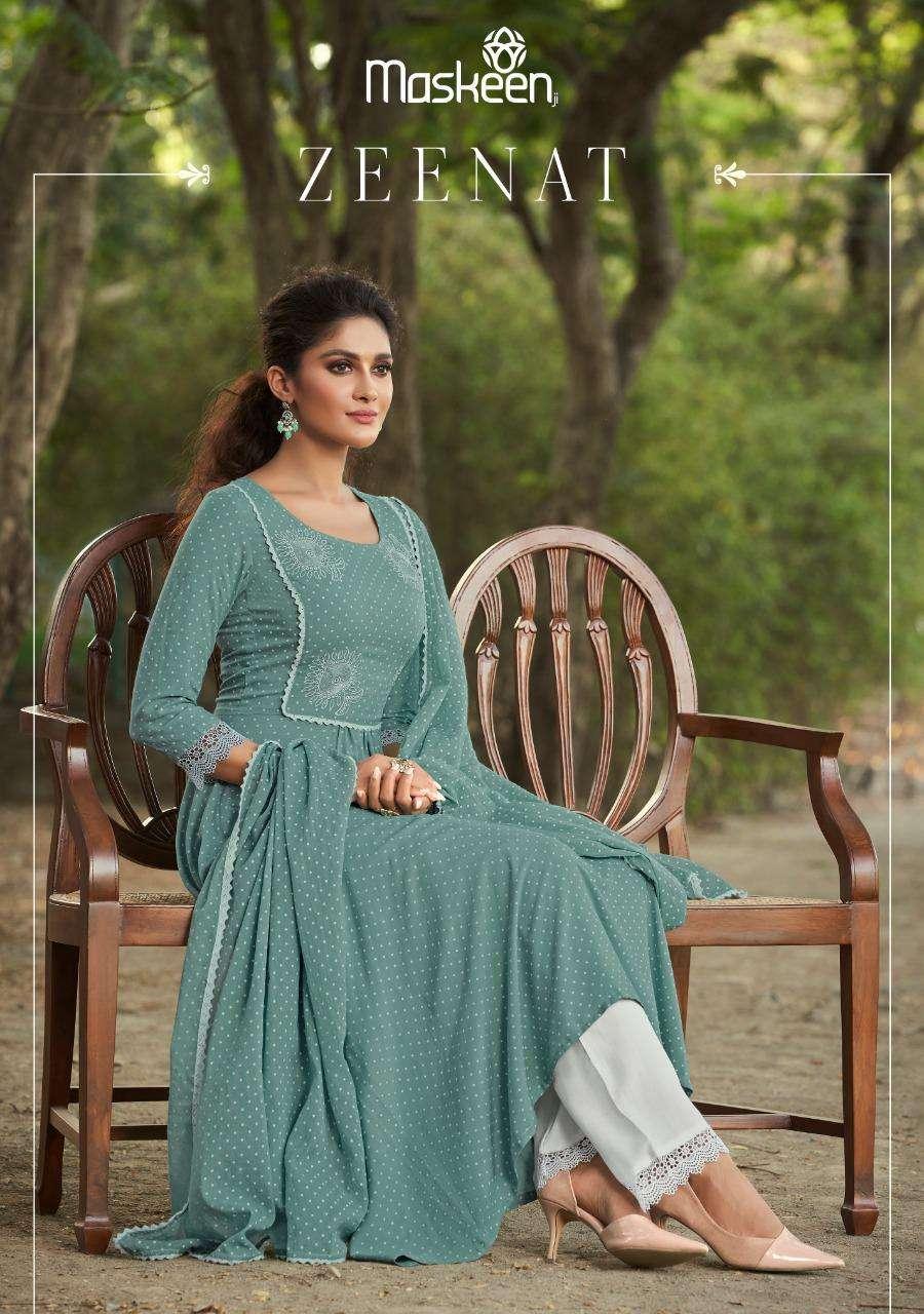 Maskeen Zeenat Pure Rayon Exclusive Readymade Top Bottom With Dupatta