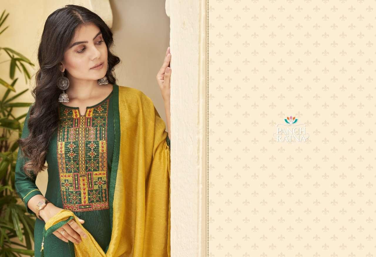 Panch Ratna Ritika Series 11341-11345 Heavy Parampara Silk Suit