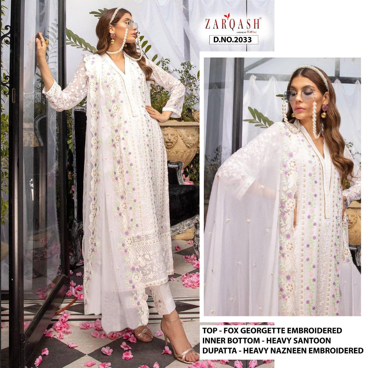 Zarqash Azure Designer Faux Georgette Suit