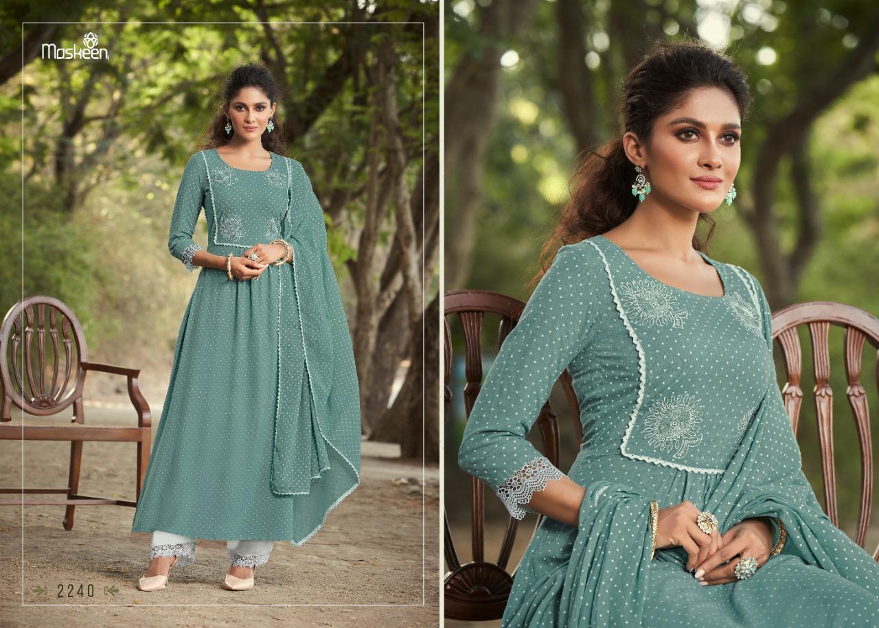 Maskeenji Zeenat Designer Pure Rayon Suit