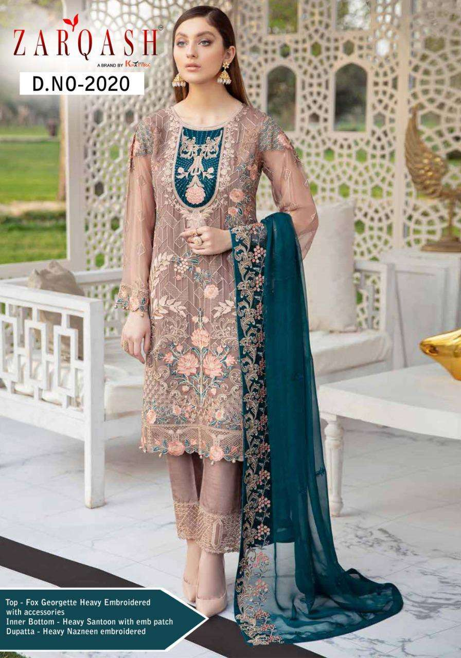 Zarqash Present Ramsha Georgette Pakistani Designer Suits