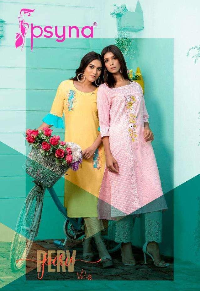 Psyna Perv Vol 2 Viscose Simple Wear Fancy Ladies Kurtis