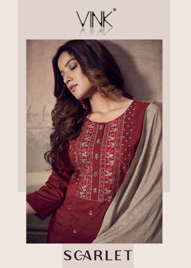 Vink Scarlet Series 1261-1266 Silk Sharara Readymade Suits