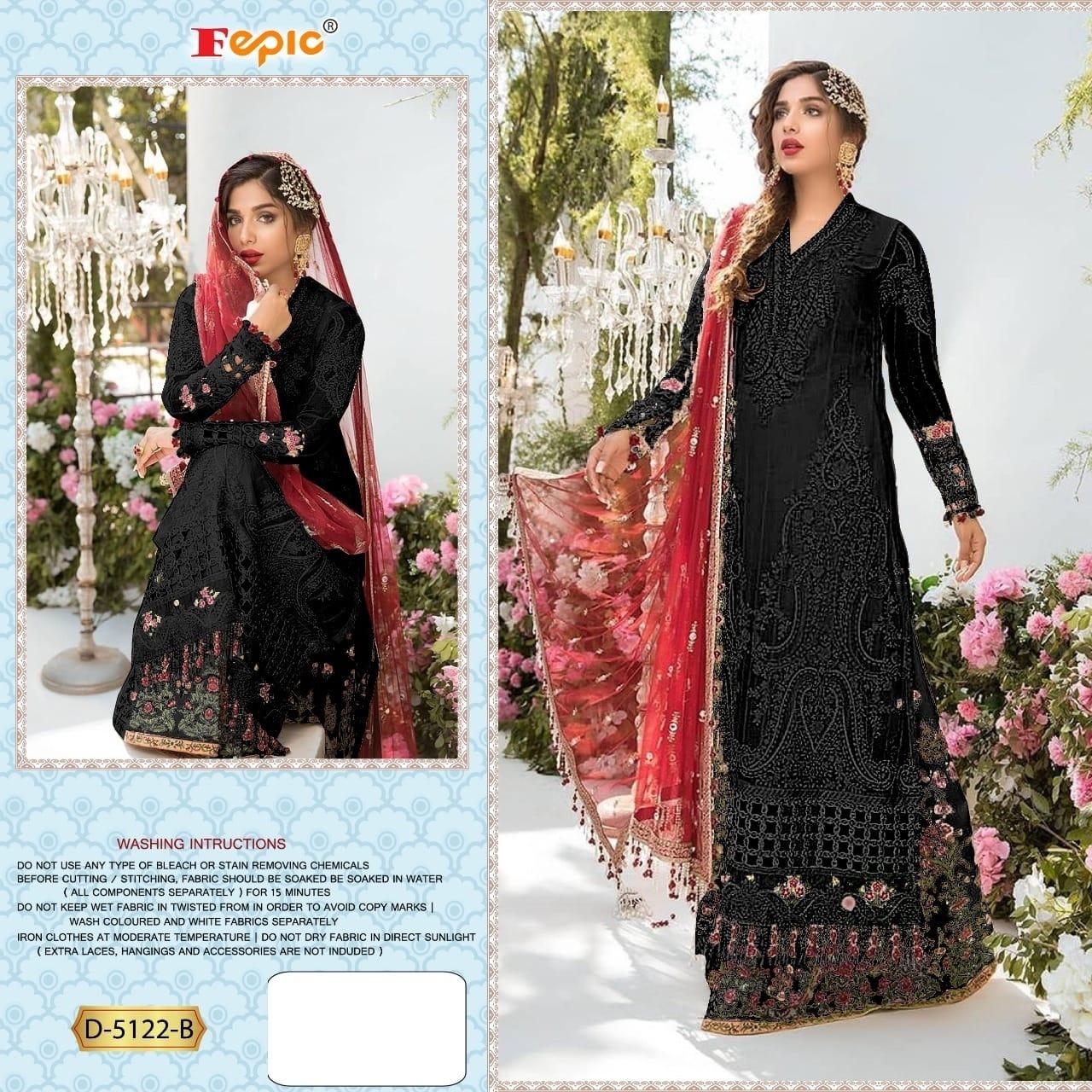 Fepic Rosemeen D-5122 B Designer Georgette Suit